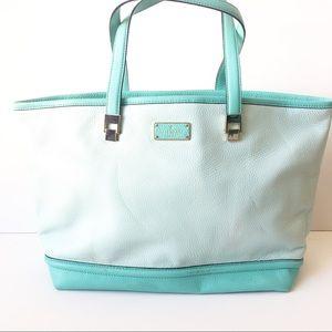 Kate Spade Tiffany Blue Two Tone Tote Bag